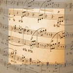 Music Notes Background Mini Canvas 6  x 6  6  x 6  x 0.875  Stretched Canvas