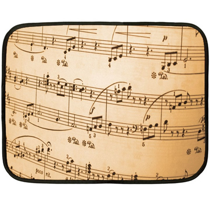 Music Notes Background Double Sided Fleece Blanket (Mini)