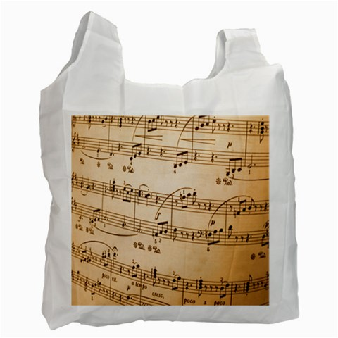 Music Notes Background Recycle Bag (Two Side)