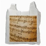 Music Notes Background Recycle Bag (Two Side)  Back