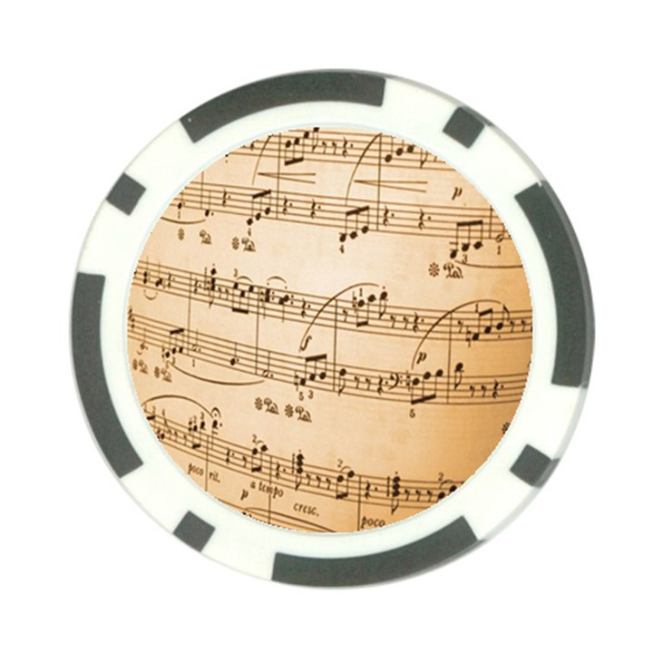 Music Notes Background Poker Chip Card Guards (10 pack)