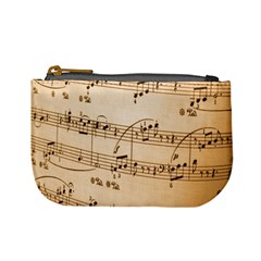 Music Notes Background Mini Coin Purses