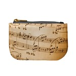 Music Notes Background Mini Coin Purses Front