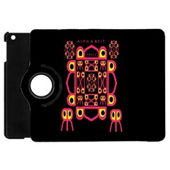 Alphabet Shirt Apple iPad Mini Flip 360 Case