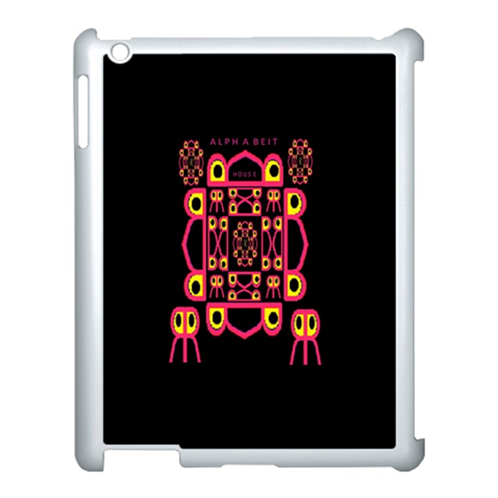 Alphabet Shirt Apple iPad 3/4 Case (White)