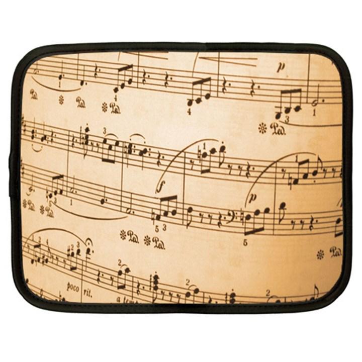 Music Notes Background Netbook Case (XXL)
