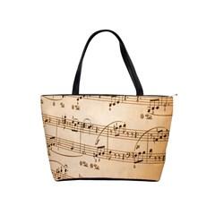Music Notes Background Shoulder Handbags