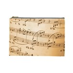 Music Notes Background Cosmetic Bag (Large)  Front