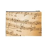 Music Notes Background Cosmetic Bag (Large)  Back