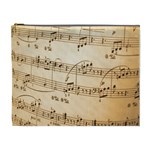 Music Notes Background Cosmetic Bag (XL) Front