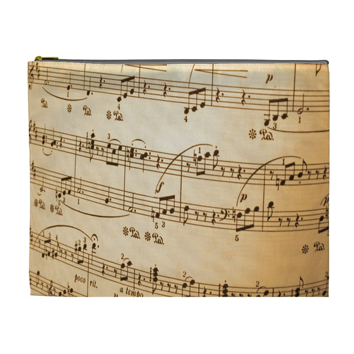 Music Notes Background Cosmetic Bag (XL)