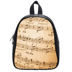 Music Notes Background School Bags (Small)
