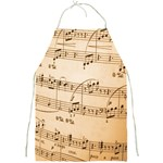 Music Notes Background Full Print Aprons Front