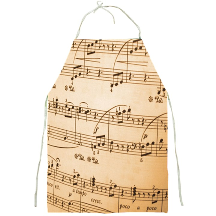 Music Notes Background Full Print Aprons