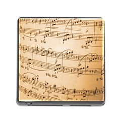 Music Notes Background Memory Card Reader (Square)