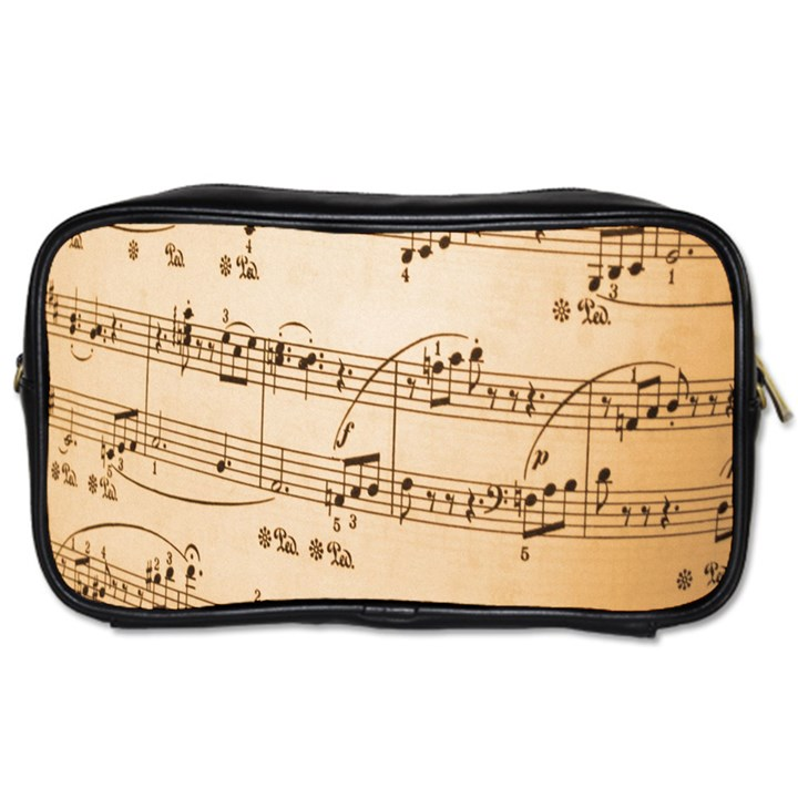 Music Notes Background Toiletries Bags