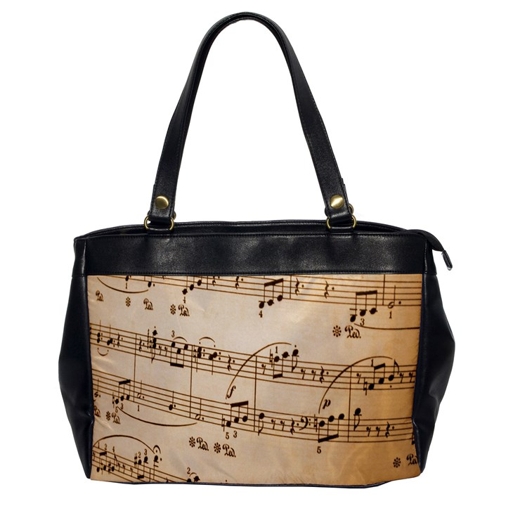 Music Notes Background Office Handbags