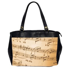 Music Notes Background Office Handbags (2 Sides)