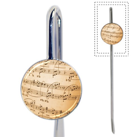 Music Notes Background Book Mark