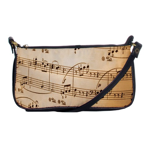 Music Notes Background Shoulder Clutch Bags