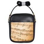 Music Notes Background Girls Sling Bags Front