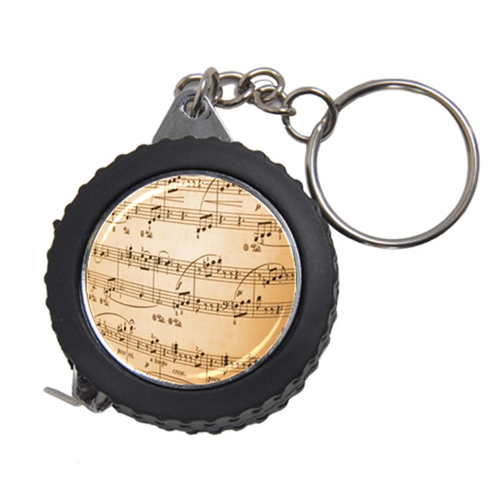 Music Notes Background Measuring Tapes