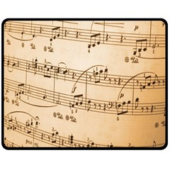 Music Notes Background Fleece Blanket (Medium)