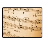 Music Notes Background Fleece Blanket (Small) 50 x40 Blanket Front