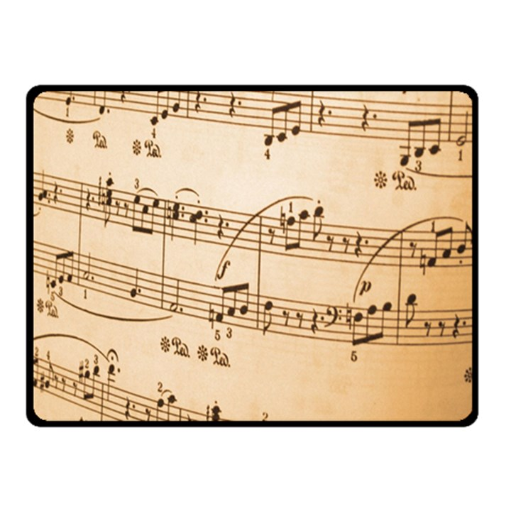 Music Notes Background Fleece Blanket (Small)