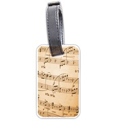 Music Notes Background Luggage Tags (One Side)