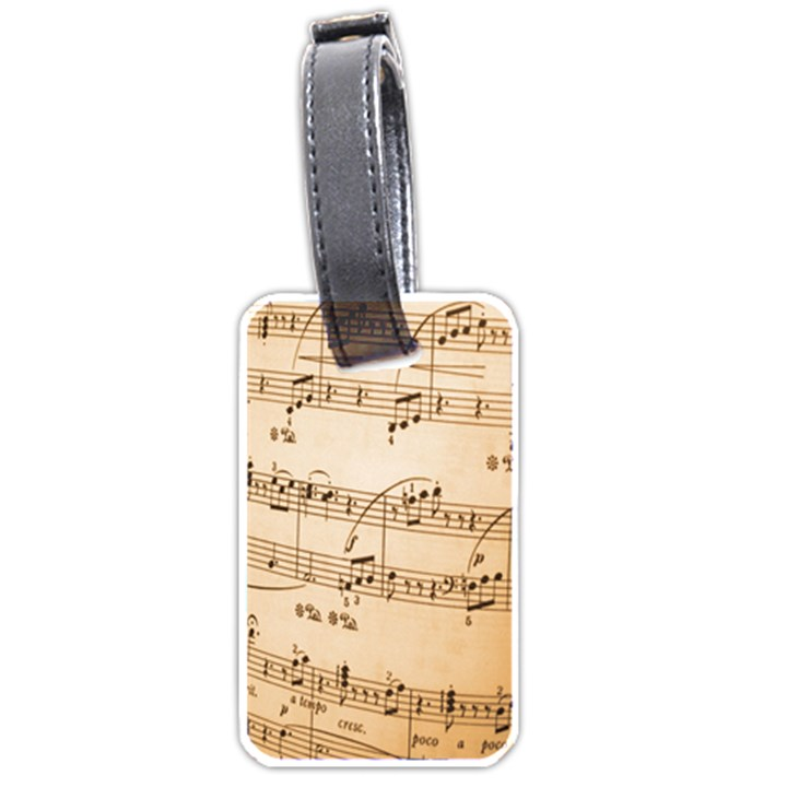 Music Notes Background Luggage Tags (Two Sides)