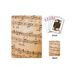 Music Notes Background Playing Cards (Mini)