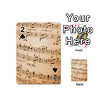 Music Notes Background Playing Cards 54 (Mini)  Front - Spade2