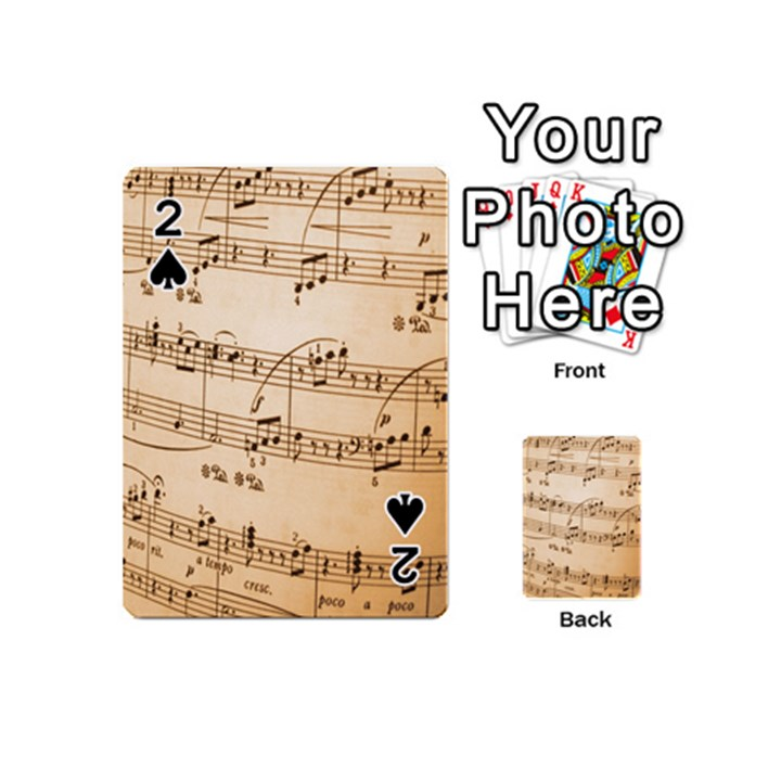 Music Notes Background Playing Cards 54 (Mini)