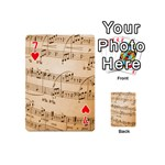 Music Notes Background Playing Cards 54 (Mini)  Front - Heart7
