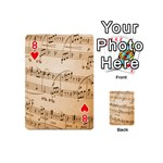 Music Notes Background Playing Cards 54 (Mini)  Front - Heart8