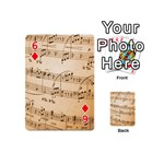 Music Notes Background Playing Cards 54 (Mini)  Front - Diamond6