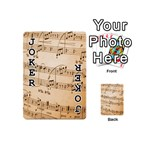 Music Notes Background Playing Cards 54 (Mini)  Front - Joker1