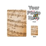 Music Notes Background Playing Cards 54 (Mini)  Back