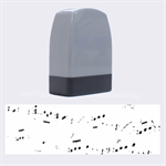 Music Notes Background Name Stamps 1.4 x0.5  Stamp