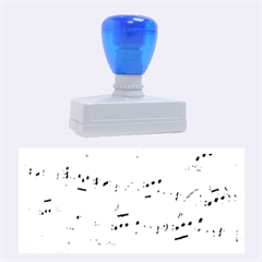 Music Notes Background Rubber Stamps (Large)