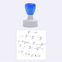Music Notes Background Rubber Round Stamps (Medium)