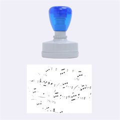 Music Notes Background Rubber Oval Stamps