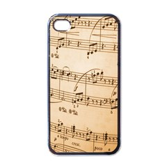 Music Notes Background Apple iPhone 4 Case (Black)