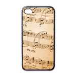Music Notes Background Apple iPhone 4 Case (Black) Front