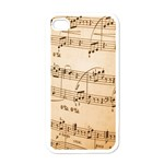 Music Notes Background Apple iPhone 4 Case (White) Front