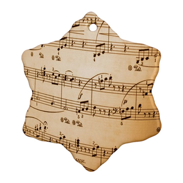 Music Notes Background Ornament (Snowflake)