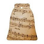 Music Notes Background Ornament (Bell)  Front