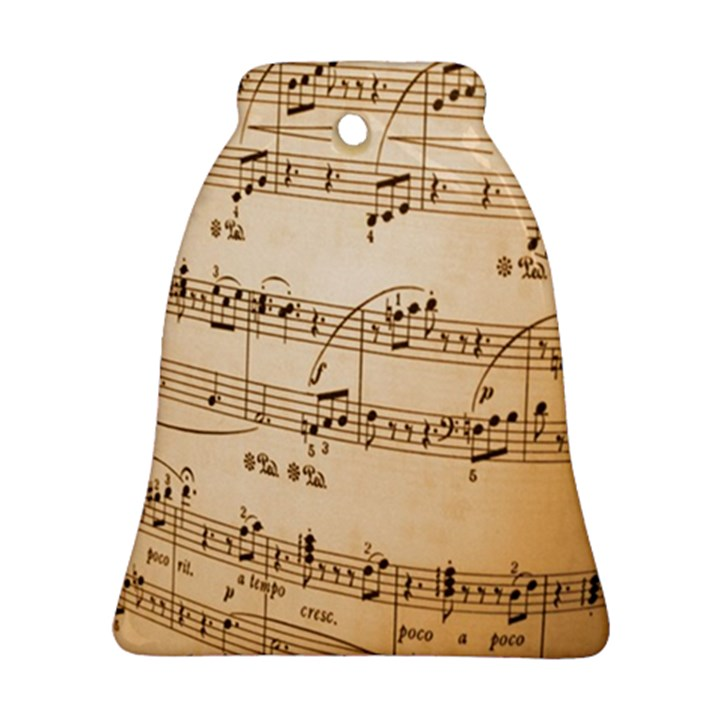 Music Notes Background Ornament (Bell)