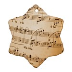 Music Notes Background Snowflake Ornament (2-Side) Back